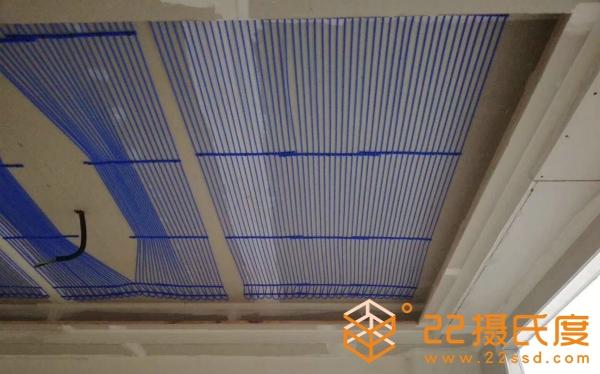 毛细管辐射空调系统安装效果