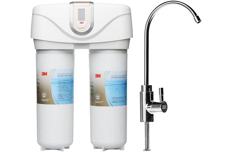 3M双子净智DWS 2000T-CN智能家用净水器 无废水直饮矿物质净水器